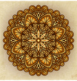 golden floral ornament circular pattern old vector image vector image