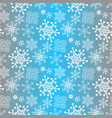gradient winter seamless christmas blue pattern vector image vector image