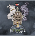 happy halloween cartoon evil vector image vector image