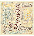 How To Choose A Spacious Car text background vector image vector image