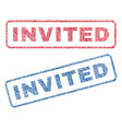 invited textile stamps vector image vector image