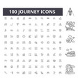 journey line icons signs set outline vector image vector image