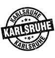 karlsruhe black round grunge stamp vector image vector image