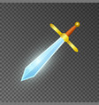 magic sword isolated game element vector image vector image