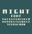 maight volume font alphabet vector image