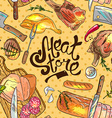 meat store vector image