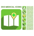 Medical Map Icon and Medical Longshadow Icon Set vector image vector image