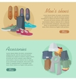 Men s Shoes Accessories Autumn Winter Collection vector image