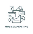 mobile marketing line icon linear concept vector image vector image