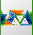 modern geometrical triangle abstract background vector image