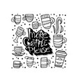 more coffe please lettering vector image