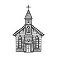 old wooden church engraving style vector image