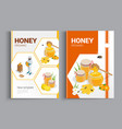 organic raw honey designe brochure abstract vector image vector image