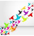 origami bird fliyng vector image