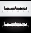 oxford ohio skyline and landmarks silhouette vector image vector image