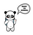 Panda schoolboy vector image