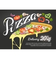 Pizza slice for advertising design of vector image vector image