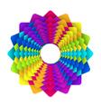 Rainbow flower logo vector image vector image