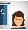 Resting design sleep icon bedtime concept vector image