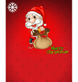 santa with a brown bag full gifts vector image