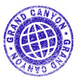 scratched textured grand canyon stamp seal vector image vector image
