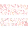 Seamless pattern borders of wedding icons