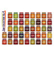 set different jam jars vector image