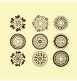 set of vintage design elements11 vector image vector image