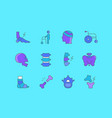 set simple line icons traumatology vector image vector image
