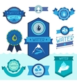 set water labels badges and stickers vector image vector image