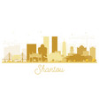 shantou china golden skyline silhouette vector image vector image
