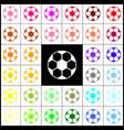 soccer ball sign felt-pen 33 colorful vector image vector image