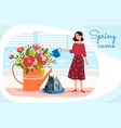 spring came concept vector image vector image