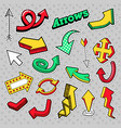 stickers arrows different arrows in comic style vector image vector image