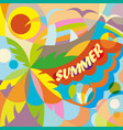 summer time party poster vector image vector image