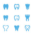 teeth white icon vector image vector image