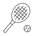 tennis thin line icon game and sport racket sign vector image vector image