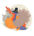 thanksgiving day autumn holiday celebration vector image vector image