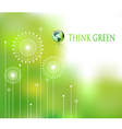 think green background vector image vector image