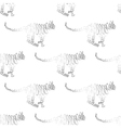 tiger seamless pattern vector image vector image