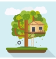 Tree house House on tree for kids vector image
