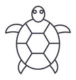 turtle line icon sign on vector image vector image