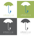 umbrella with fork design set vector image vector image