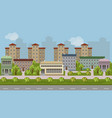 urban landscape cartoon background vector image
