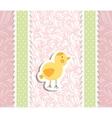 Vintage doodle bird chicken vector image vector image