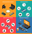 wireless electronic devices isometric concept vector image vector image