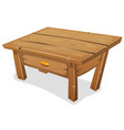 wood little table vector image vector image