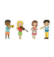 Musician children set vector image