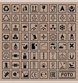 packaging symbols set cargo icons vector image
