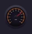 Speedometer Orange vector image